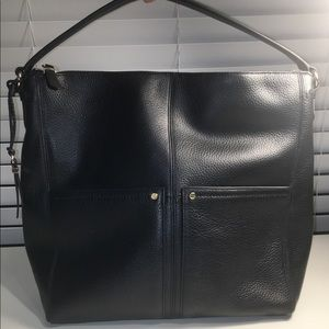 Cole Haan Black Leather Hobo